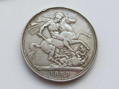 Victoria 1889 Jubilee Head Silver Crown - A good filler/collectable coin