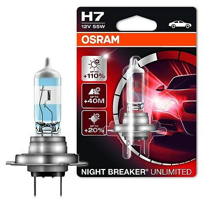 Osram H7 Night Breaker Unlimited 12V Halogenlampe Scheinwerferlampe Autolampe