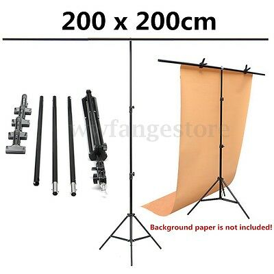 "79""x79"" Large Aluminium Photography Background Support Stand System w/ 4xClips"