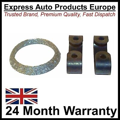 Exhaust Front Pipe to Manifold Gasket and Clamps VW Golf Mk2 1.6 1.8