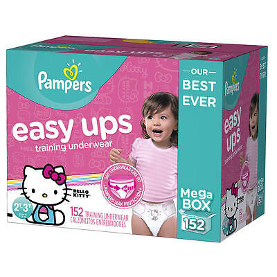 Pampers Easy Ups Training Underwear for Girls 2T-3T Mega Pack - 152 Count