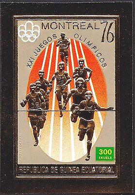 """GUINEE EPQUATORIALE JO Montreal 1976,""""or"""" ** Equatorial Guinea """"gold"""" Olympic NH"""