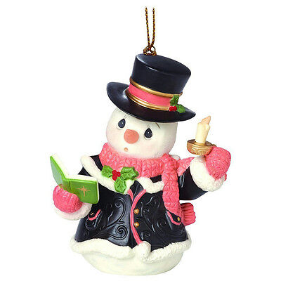Precious Moments Ornament 2016 Snowman Series #7 - O Come All Ye Faithful 161033