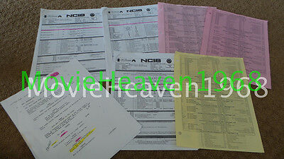 Mark Harmon Personally Set Used Original Ncis Tv Series Show Script Sides 1