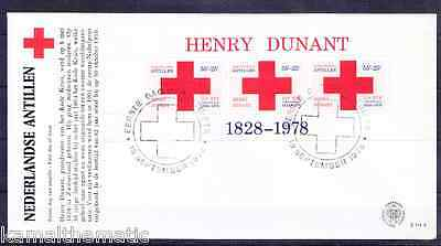 Netherlands 1978 FDC with SS, Henry Dunant, Red Cross