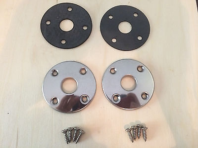 1969 1970 Dodge Coronet Super Bee B Body Hood Pin Bezels & Gaskets Kit New MoPar