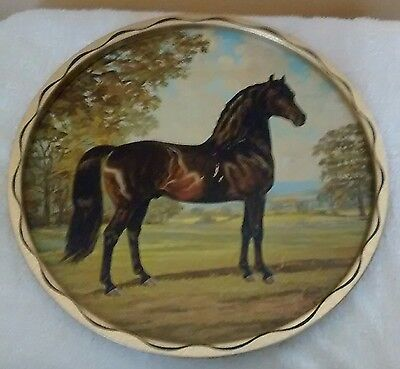 1966 dated with artist name horse tray nice 11 inch