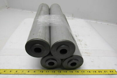 "19-1/4""L x 3-1/2""Dia. Conveyor Rollers Rigid PVC W/ 1"" Dia. Axle Hole Lot of 4"