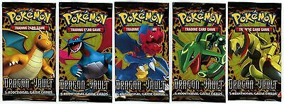 Pokemon Dragon Vault 5 Booster Packs - Brand New And Sealed! 5 Holo Cards/Pack!