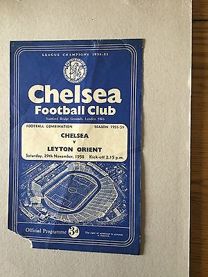 CHELSEA Res V LEYTON ORIENT Res ( comb ) 1958/9.