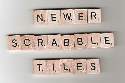 Scrabble board game pieces - complete set of 100 wood tiles - newer style
