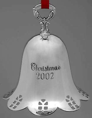Towle Silver ANNUAL CHRISTMAS BELL Silverplated 2002