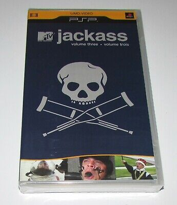 Jackass Vol. 3 for Sony PSP UMD Video Brand New! Factory Sealed!