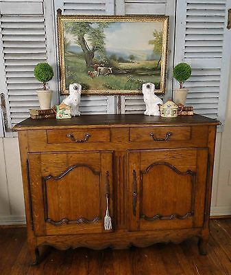 Antique French Country Buffet Sideboard Server Provence Simplicity 1800's