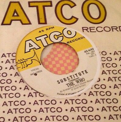 """The Who - Substitute / The Who - Waltz For A Pig - Us Atco 7""""- Hear"""