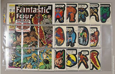 Topps Marvel Comic Book Heroes Sticker Trading Cards (1975) ##SET FN+ 6.5
