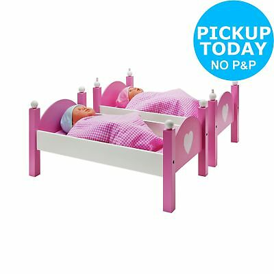 Chad Valley Classic Wooden Dolls Bunkbed. From the Official Argos Shop on ebay