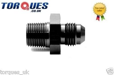 "AN -4 (AN4 AN 04) to 1/8"" NPT Straight Adapter Black"