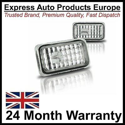 2 x Crystal Clear Chrome Side Repeaters Turn Signal VW JOM 80296