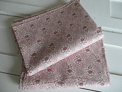 RARE Set Of Two (2)  Pillowcases  Euro Shams  Thickly Cotton Berries Flowers