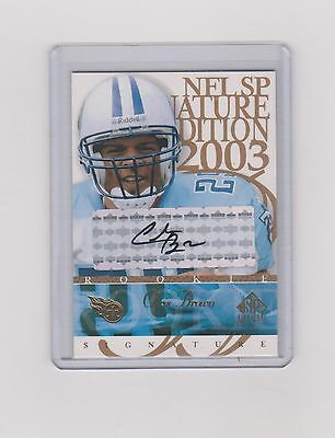 2003 Chris Brown   Sp Signature Edition Rookie Auto