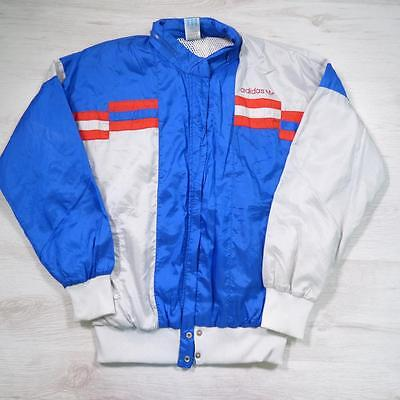 Mens Adidas Vintage Hooded 1990s Shell Suit Tracksuit Top Jacket Small #E2140