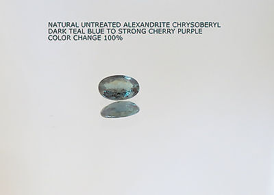 0.29 carat VS BRAZIL FIRE´s CREEK NATURAL ALEXANDRITE CHRYSOBERYL CHANGE 100%