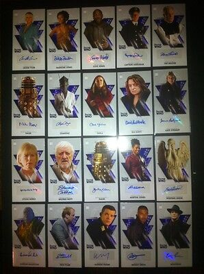 """TOPPS Dr Who OVERSIZED 2.5 """"X 4.75"""" Autograph Card LOT OF 20 BLUE. BBCtv"""