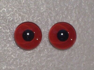 New Red Glass Pheasant Duck Bird Eyes, 9Mm 10Mm Or 11Mm, You Choose Taxidermy
