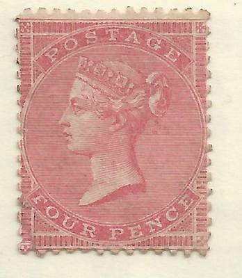 SG64 THE SCARCE 1856 QV 4d PALE CARMINE WAT MEDIUM GARTER MINT CAT £13000