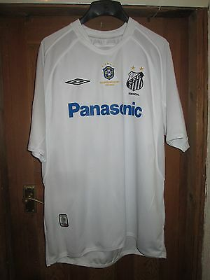 Santos Fc Football Shirt,white Umbro,number 10 Pele,panasonic