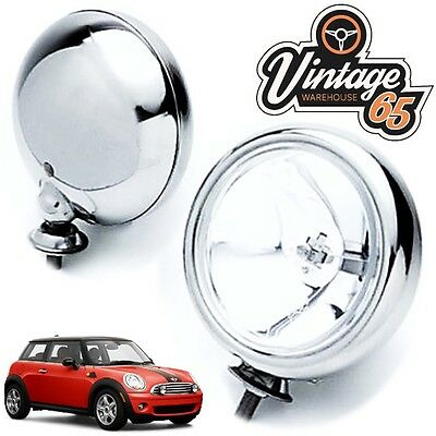 "5"" Chrome Spot lights Driving Lamps BMW New Mini Mk1 One Cooper S Genuine Maxtel"