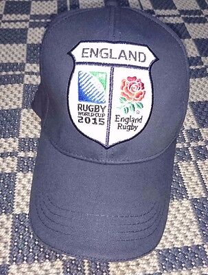 ENGLAND Rugby Baseball Cap CANTERBURY Navy Blue Hat World Cup 2015 Brand New