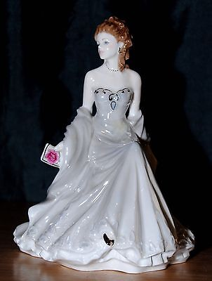 Royal Worcester Golden Moments Silver Wedding Anniversary Figurine
