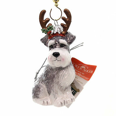 Holiday Ornaments DOG WITH ANTLERS ORNAMENT Christmas Puppy Nb1261 Schnauzer