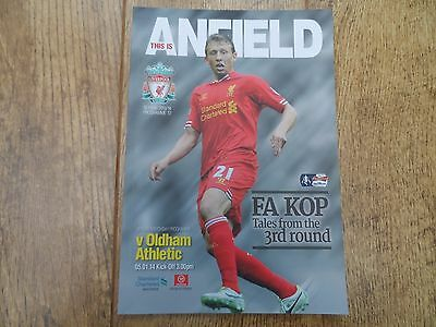 2013/14 - LIVERPOOL v OLDHAM ATHLETIC - FA CUP 3rd Round