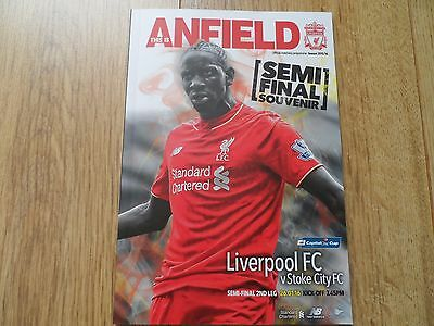 2015/16 - LIVERPOOL v STOKE CITY - CAPITAL ONE CUP SEMI FINAL