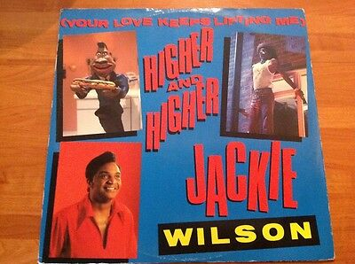 "JACKIE WILSON - Vinyl 45rpm 12"" Single - HIGHER and HIGHER"