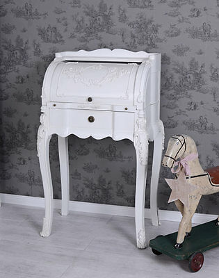 ROLLBUERAU Shabby Chic LADY SECRETARY White Table console Victorian House