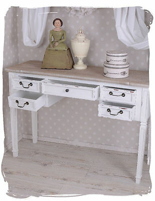 Desk White Computer Table Country House Style Sideboard Table France