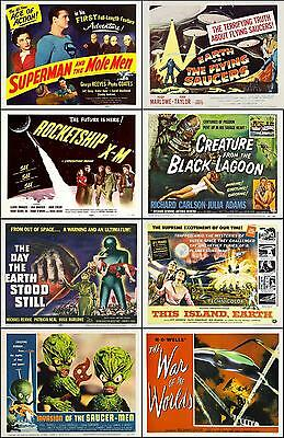 SPECIAL LOT Of 8 Individual SCI-FI 8x10 TITLE CARD Prints