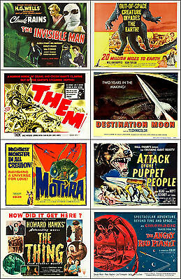 SPECIAL LOT Of 8 Individual SCI-FI 11x14 TITLE CARD And HS Prints Lot B