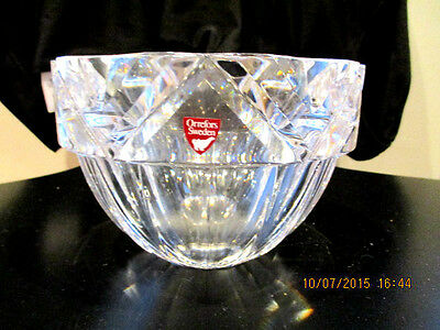 ORREFORS SWEDEN Crystal BOWL SIGNED BY ARTIST AND NUMBERED