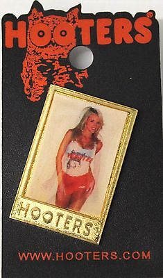 Hooters Pin Hologram Girl Changes From Blue Bikini To Hooters Uniform NEW