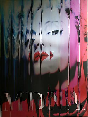 MADONNA MDNA PROMO OFFICIAL 18x24 HARD CARBOARD METALLIC MYLAR PRINT POSTER