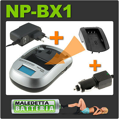 PK7 NP-FH50 Carica Rapido LCD equivalente sony ACPW10AM AC-PW10AM BCVH1 BC-VH1