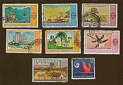TRINIDAD&TOBAGO 8 1960-82 Paintings +Stamps (35-57 YrsOld)Used See Descr  FUS392
