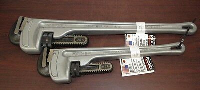 RIDGID Aluminum Pipe Wrench Set Cat.No.31105 M/N.824 & Cat.No.31100 M/N.818 [5D]