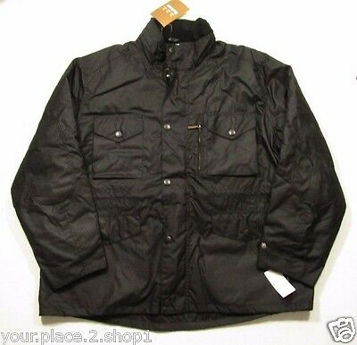 Barbour Men's Black Sapper Waxed Cotton Jacket