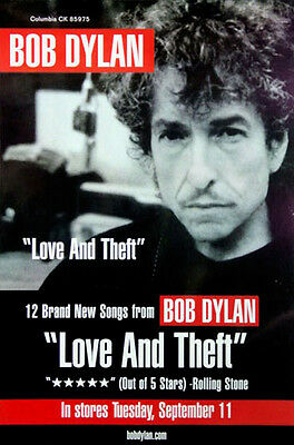 Bob Dylan - Love And Theft (2001) original album promo poster s-sided rolled